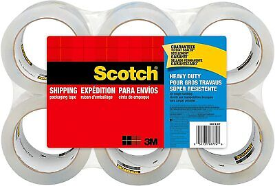 Scotch 3850-6 Heavy Duty Tape 1.88 X 54.6 Yards 3 Core 6 Rolls
