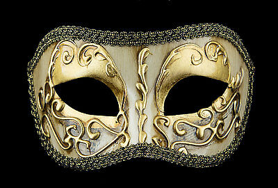 Mask from Venice Divine Colombine Golden Costume-Ball Masquerade - 1938 -V49B