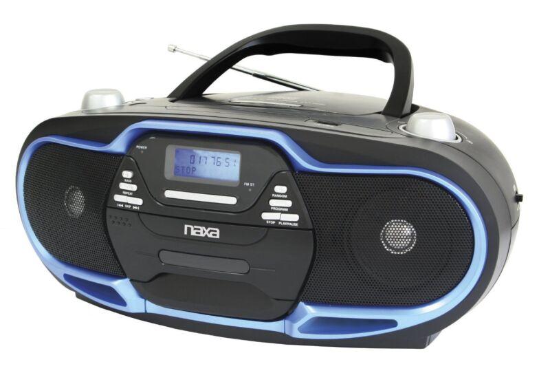 NAXA Portable MP3/CD Player AM/FM Stereo Radio & USB Input (Black/Blue)