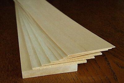 Balsa-Holz Brettchen 7 Stück - unterschiedlich lang und dick - siehe Text!