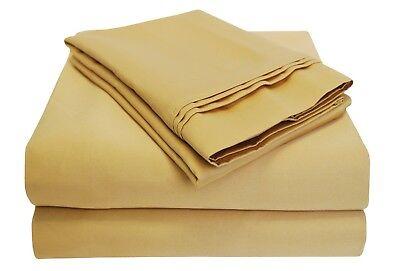Luxor Eindrücke 100% Ägyptische Baumwolle Blatt 1000 TC Voll Angepasst ~ Creme (1000 Tc Blatt)
