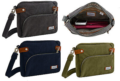 TRAVELON ANTI-THEFT RFID SAFE HERITAGE CROSSBODY BAG TRAVEL PURSE TRAVEL BAG NEW
