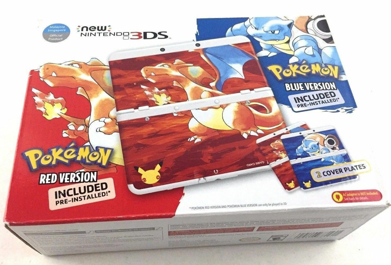 New Nintendo 3ds Pokemon 20th Anniversary Red Amp Blue