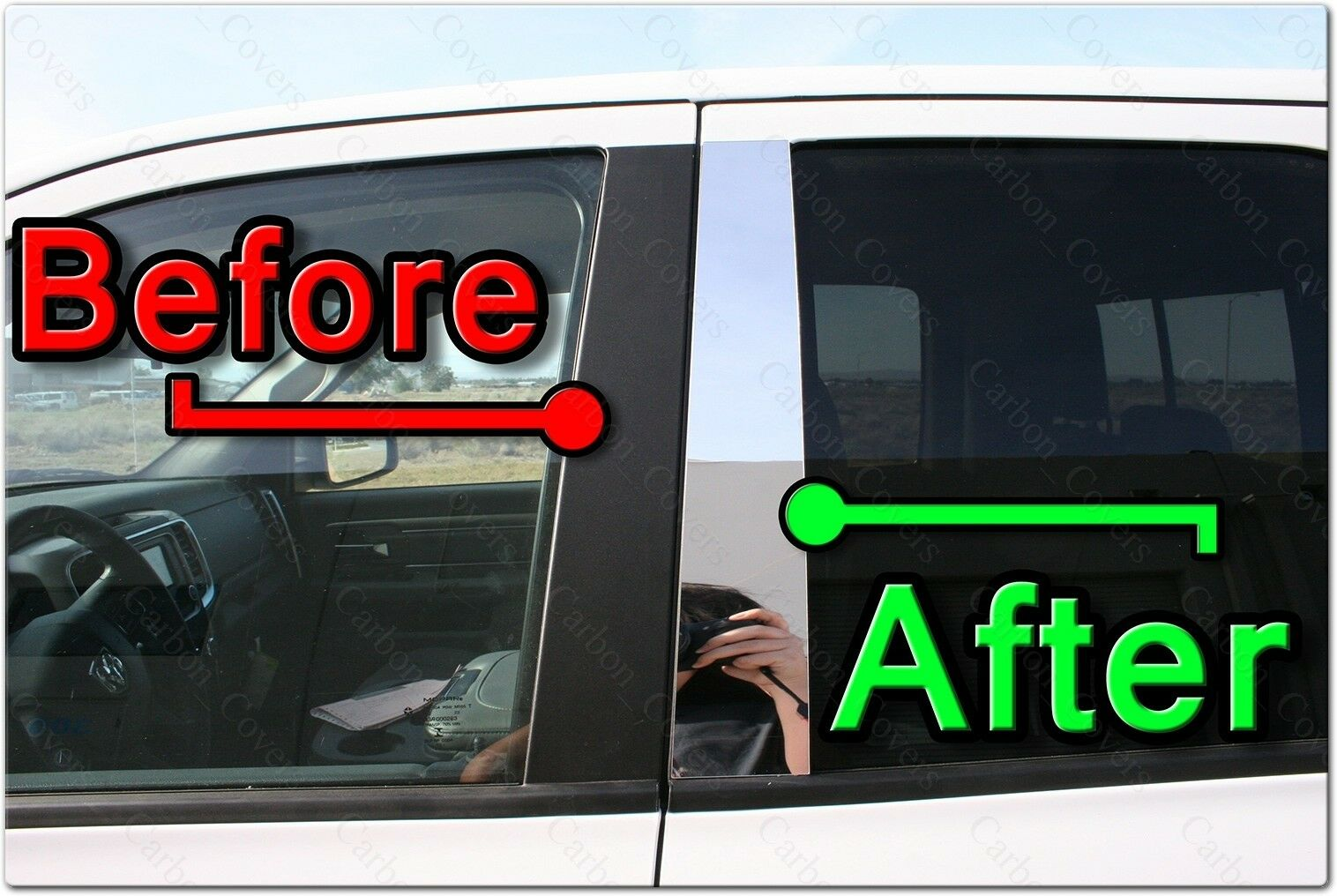 Chrome Pillar Posts fit Cadillac Deville 94-99 6pc Set Door Trim Mirrored Cover