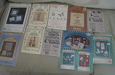 Country STENCIL Heirlooms Christmas Alphabet Numbers Borders Homespun Art Signs ()