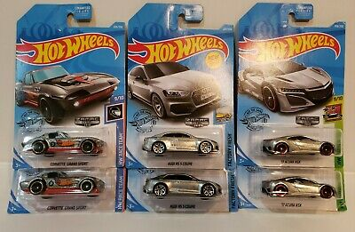LOT Of 6 Hot Wheels Zamac Cars AUDI COUPE - CORVETTE - ACURA NSX