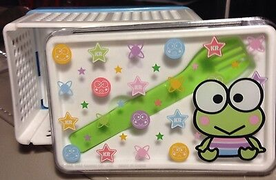 Sanrio Keroppi 20th Anniversary Folding Lunch Box Set w/ Strap Closure RARE! NEW
