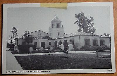 1940S Photo Postcard City Hall Santa Maria California Unposted