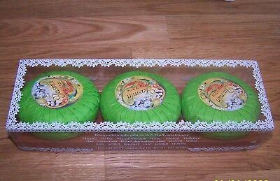 Kappus Blumentrümpfe doppelt parfümiert  Jasmin  Soap Set 3x 100g OVP