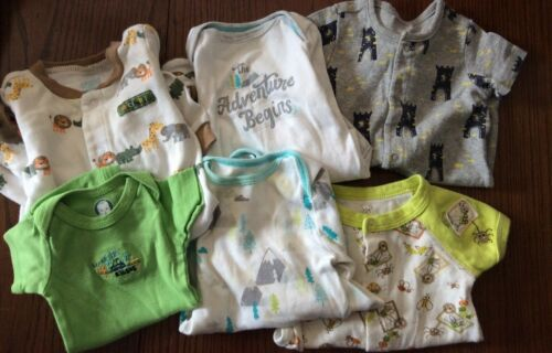 Lot Of Baby Boy Infant 0-3 Months Pajama Romper Carter