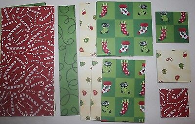 Christmas Scrapbook Mini Paper Pads Strips Use For Cards Layouts & Other Crafts ()