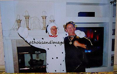 Vtg Halloween Photo of Man Dressed As Dalmatian Dog With Arm Around Ceasar Q79](Dog Halloween Photos)