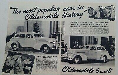 1937 Oldsmobile sedan most popular car in Oldsmobile history vintage two-page ad