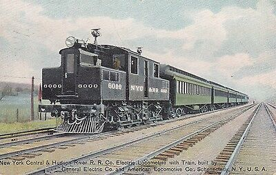 NY Central & Hudson River RR Co Electric Locomotive with Train