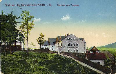 Moldau, Böhmen - Gasthaus zum Touristen, Ansichtskarte um 1910