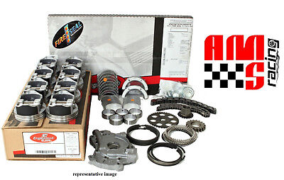 ENGINE REBUILD KIT 2001-2003 CHEVY GM TRUCK LS 325 5.3L COATED FLAT TOP PISTONS