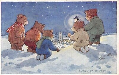 POSTCARD  CHILDREN   BROWN  BEARS  The  Explorers     Margaret  Tempest