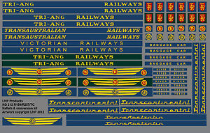TRIANG-RAILWAYS-R159-R257-TRANSCONTINENTAL-LOCO-VICTORIAN-RAILWAYS-TRANSFER-SET