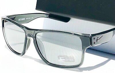 NEW* NIKE MAVRK Crystal Grey Smoke frame w Grey IRIDIUM Lens Sunglass EV0771 010