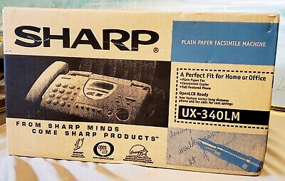 Sharp Ux-340lm Plain Paper Facsimile Machine New