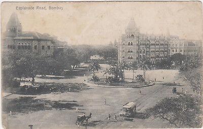 Bombay,INDIA,Esplanade Road,Trolley Car,c.1898-1906
