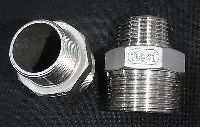 Stainless Steel Reducer Nipple 1 14 X 1 Npt Pipe Rn-125-100