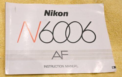 Nikon N6006 Camera Manual AND Nikon System Manual