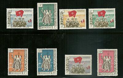 1961 Laos Local Semi-Postal Xieng Khouang Complete Set of 8 MNH XF Scarce! 8