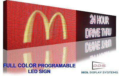 Wifi 19x63 Full Color 10mm Programmable Led Sign Digital Image Text Logo Board