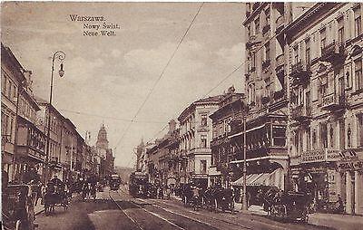 Poland Warszawa - Nowy Swiat WWI postcard