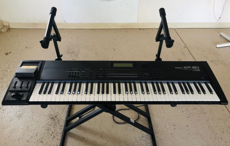 Roland XP-80 76 Note Workstation Synthesizer with Stand