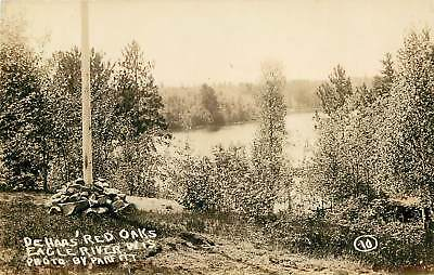 Wisconsin, WI, Eagle River, De Haas' Red Oaks 1922 Real Photo Postcard for sale  Clayton