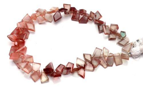 """Natural Gem Andesine Labradorite Faceted Slice Shape Beads 8"""" Strand 64Cts."""