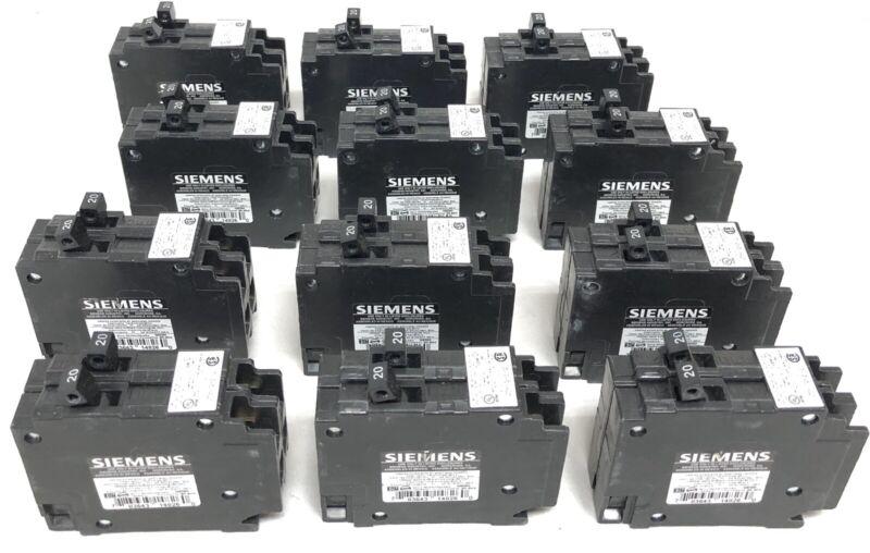12 Siemens Q2020 Circuit Breakers New Open Box 20-20A 1-1-Poles 120/240V 60 Hz