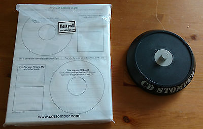 Cd Stomper With Unused Labels Jewel Case Inserts