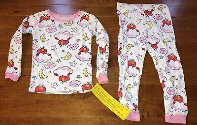Sesame Street Elmo White Toddler Girl Long Sleeve Shirt & Pants Pajamas New 2T](Elmo Girl)