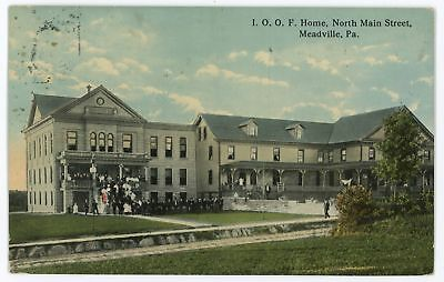 IOOF Home Main Street MEADVILLE PA Crawford County Pennsylvania Postcard for sale  Shipping to Canada