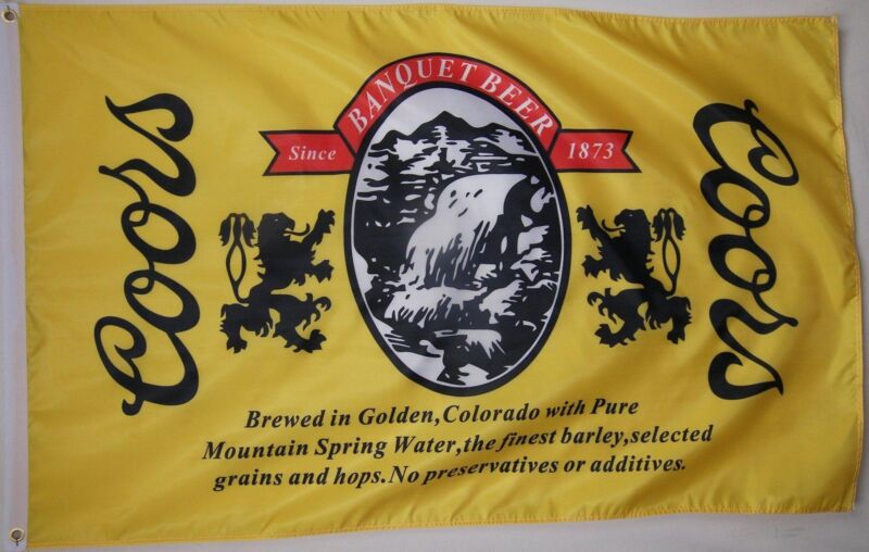 Coors The Banquet Beer Flag 3