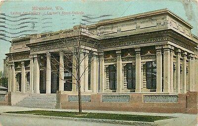Layton Art Gallery Milwaukee Wisconsin WI Laytons Kunst Gallerie 1913 Postcard ()