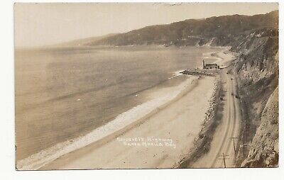 RP Postcard Roosevelt Highway Santa Monica Bay California