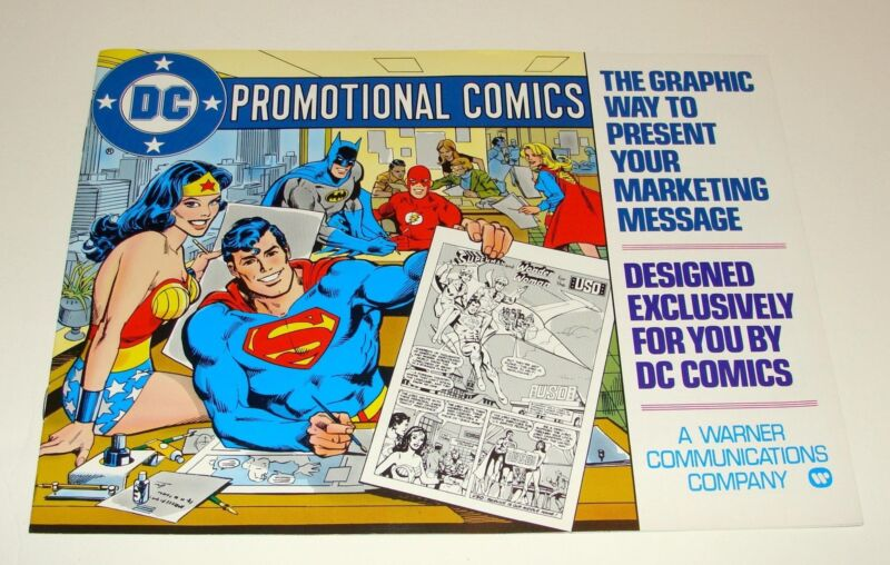 1979 DC PROMOTIONAL COMICS MARKETING BOOKLET - DICK GIORDANO ART - SUPERMAN