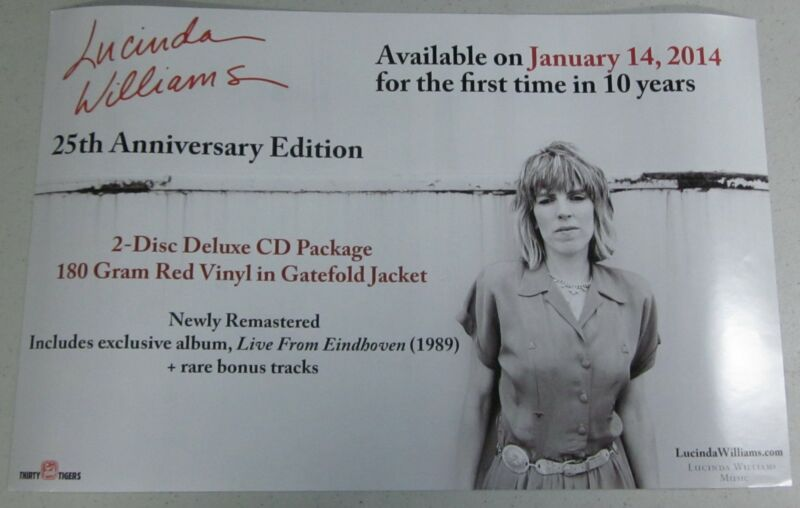 """Lucinda Williams - 25th Anniversary Edition (2 Sided) [Promo Poster] 11"""" x 17"""" #"""