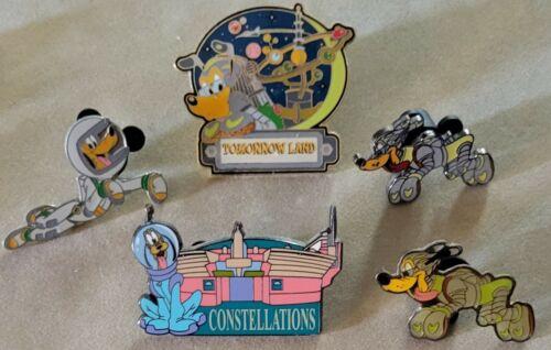 Disney Pluto Astronaut Constellations Tomorrow Land Spacesuit 5 Pin Lot