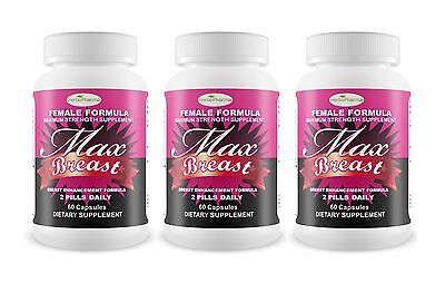 BEST MAX BREAST Enlargement Enhancement Natural Herbal Augmentation Pill