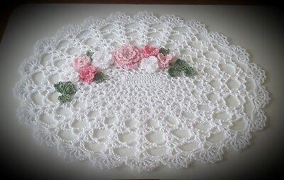 Custom Order Pink Crochet Doily unique gift idea by leochic033