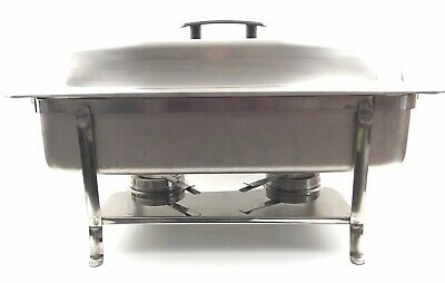 Vollrath Stainless Steel Chafer Set W Frame Water Pan Lid Fuel Holders Usa