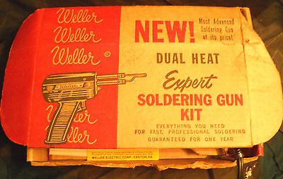 Weller Soldering Gun Dual Heat Model 8200k 1961 Vintage Wtools Lit