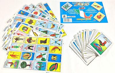 El Cowboy Mi Tierra MEXICAN LOTERIA BINGO CARD GAME 10 PLAYER 10 BOARD 54 CARDS