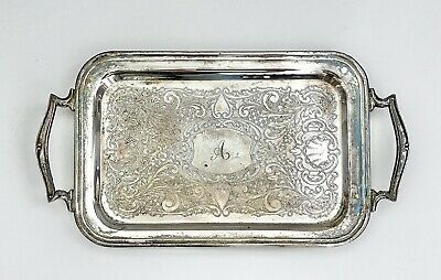 4 X RETRO STYLE ROUND 25 X 25 X1.5CM  bbq party Nickel Plated Metal Serving Tray