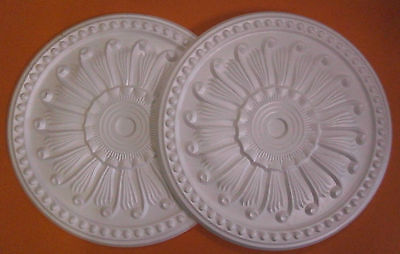 *Decorators Bargain* - 2 x Polystyrene Ceiling Rose 400mm < Slightly Shop Soiled